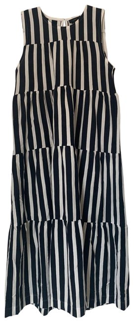 Item - Navy and White Striped Tank Long Casual Maxi Dress Size 2 (XS)