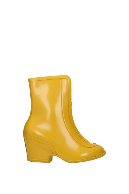 Item - Yellow Ankle Women Rubber Boots/Booties Size EU 37.5 (Approx. US 7.5) Regular (M, B)