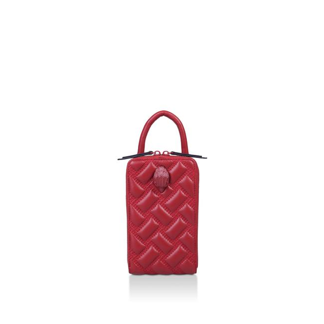 Item - Kensington Crossbody Tall Drench Quilted North South Red Leather Shoulder Bag