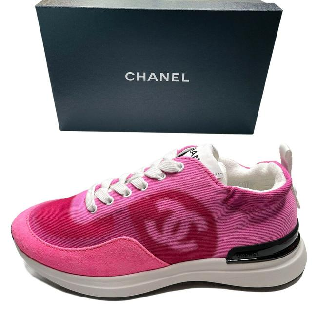 Item - Pink 2021 Denim Suede Leather Trainers Runners Sneakers Size EU 35.5 (Approx. US 5.5) Regular (M, B)