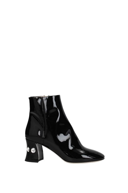 Item - Black Ankle Women Patent Leather Boots/Booties Size EU 37 (Approx. US 7) Regular (M, B)