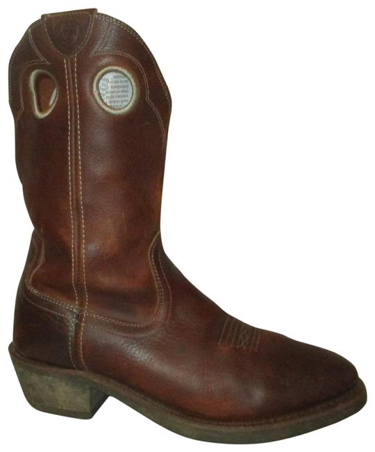 Item - Brown Men's Leather Western Boots/Booties Size US 12 Extra Wide (Ww, Ee)