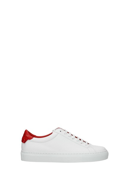 Givenchy White Urban Street Women Leather Red Sneakers Size EU 37 (Approx. US 7) Regular (M, B) Givenchy White Urban Street Women Leather Red Sneakers Size EU 37 (Approx. US 7) Regular (M, B) Image 1