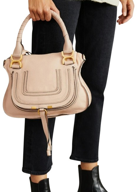 Item - Marcie Small Blush Nude Leather Cross Body Bag