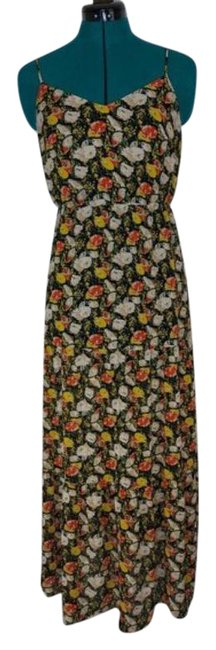Item - Green Red Mercantile Floral Print Long Casual Maxi Dress Size 2 (XS)