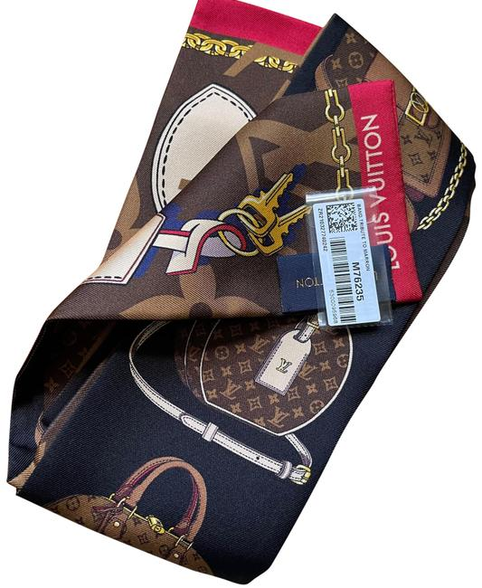 Item - Brown Tribute To Marron Monogram Limited Bandeau Scarf/Wrap