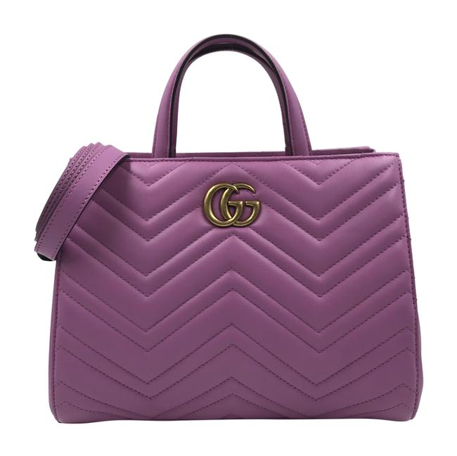 Item - GG Marmont Tote Candy Pink Matelassé Leather Cross Body Bag