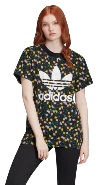 Item - Black XS All Over Print Oversized Activewear Top Size 2 (XS)