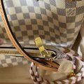 Louis Vuitton Neverfull Azur Damier Mm with Shoulder Strap Gray White Canvas Tote Louis Vuitton Neverfull Azur Damier Mm with Shoulder Strap Gray White Canvas Tote Image 10