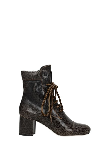 Item - Brown Ankle Women Leather Boots/Booties Size EU 37 (Approx. US 7) Regular (M, B)