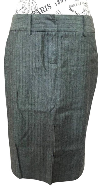 Item - Gray Wool Pinstriped Straight 5/6 Skirt Size 6 (S, 28)