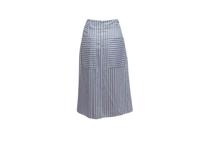 Item - Blue Light and Multicolor Stripped Skirt Size 8 (M, 29, 30)