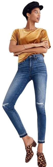 Item - Blue Medium Wash High-rise In York Skinny Jeans Size 28 (4, S)