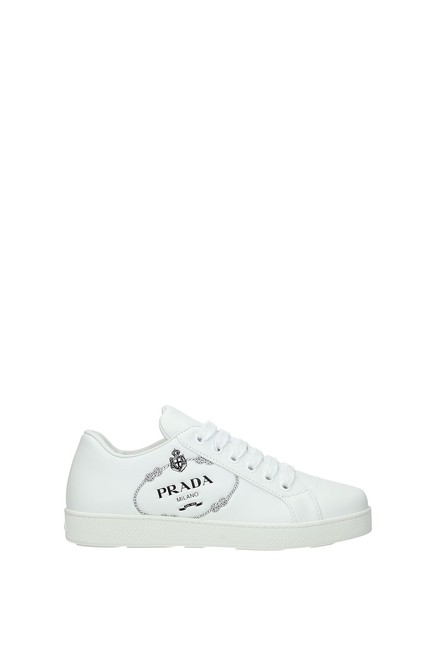 Item - White Women Leather Sneakers Size EU 36.5 (Approx. US 6.5) Regular (M, B)
