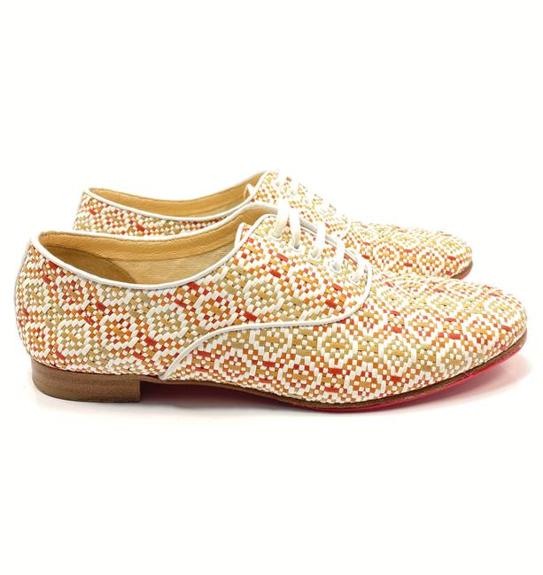 Item - Multicolor Fred Oxford Woven Leather Brogues Lace Flats Size EU 39 (Approx. US 9) Regular (M, B)