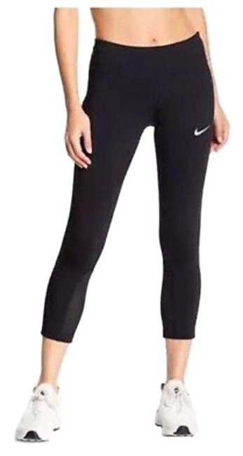 Item - Black Women's Dri-fit Epic Running Crop Tights Small Activewear Bottoms Size 4 (S, 27)