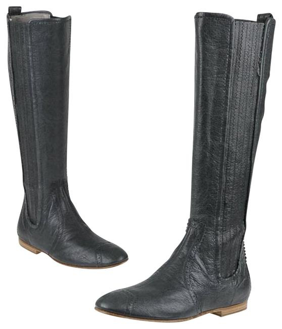 Item - Gray Arena Leather Knee Boots/Booties Size EU 38.5 (Approx. US 8.5) Regular (M, B)
