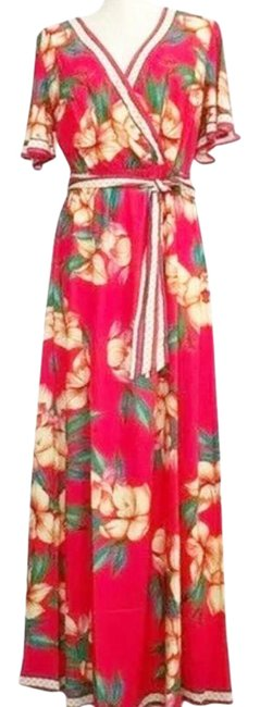 Item - Red / Orange Nwot Floral Bohemian Small Long Casual Maxi Dress Size 6 (S)