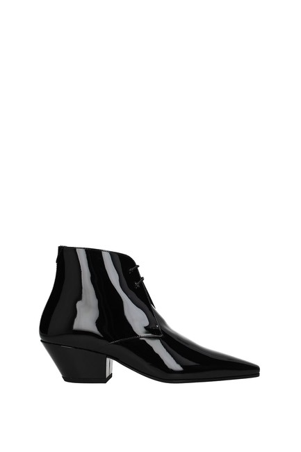 Item - Black Ankle Women Patent Leather Boots/Booties Size EU 37.5 (Approx. US 7.5) Regular (M, B)