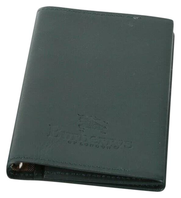 Item - Green Burbberys Leather Small Ring Agenda Cover Address Book Holder Wallet