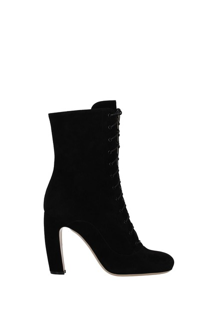 Item - Black Ankle Women Suede Boots/Booties Size EU 37.5 (Approx. US 7.5) Regular (M, B)
