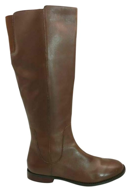 Item - Brown Womens Riding Leather Round Toe Knee High Z Boots/Booties Size US 8 Regular (M, B)