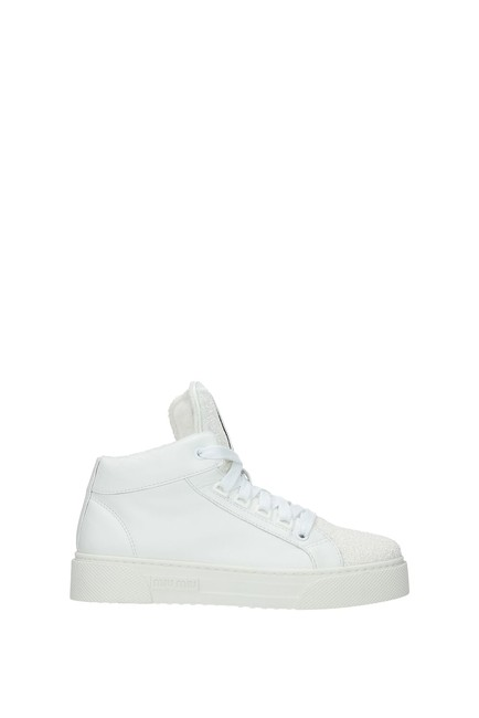 Item - White Women Leather Sneakers Size EU 37 (Approx. US 7) Regular (M, B)