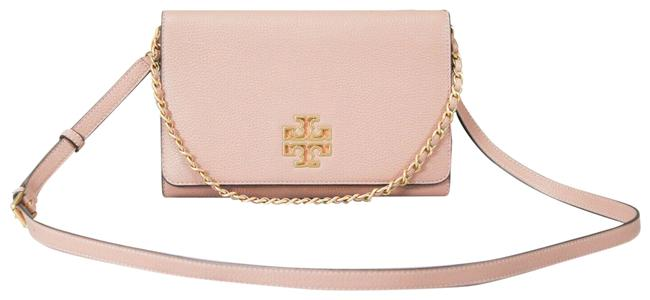 Item - Crossbody Britten Large (73507) Pink Moon Pebbled Leather Clutch