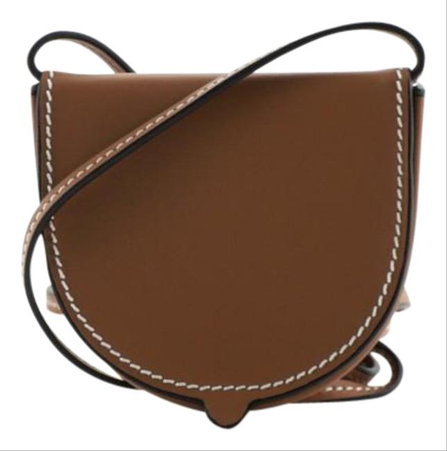 Item - Heel Pouch Small Brown Leather Cross Body Bag