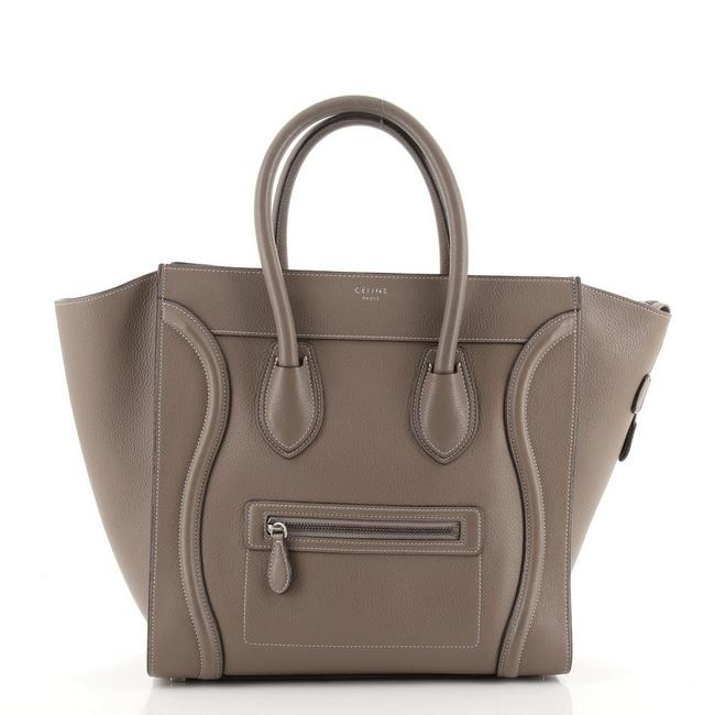 Item - Luggage Mini Brown Grainy Leather Tote