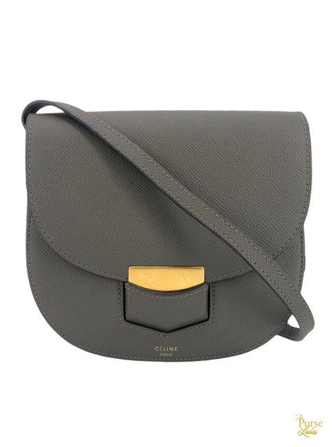 Item - Trotteur Small #35500 Gray Leather Cross Body Bag