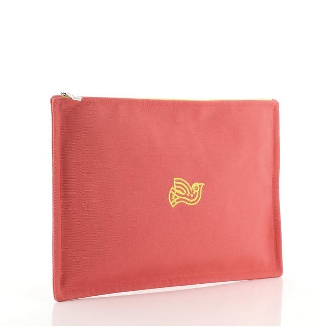 Hermès Flat Yachting Pouch Toile Gm Pink Canvas Plain Clutch Hermès Flat Yachting Pouch Toile Gm Pink Canvas Plain Clutch Image 2