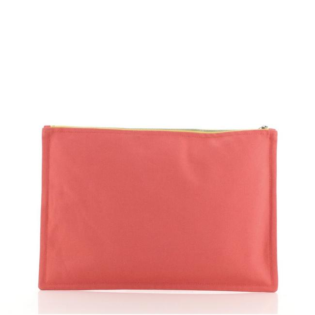 Hermès Flat Yachting Pouch Toile Gm Pink Canvas Plain Clutch Hermès Flat Yachting Pouch Toile Gm Pink Canvas Plain Clutch Image 3