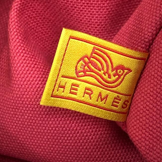 Hermès Flat Yachting Pouch Toile Gm Pink Canvas Plain Clutch Hermès Flat Yachting Pouch Toile Gm Pink Canvas Plain Clutch Image 6