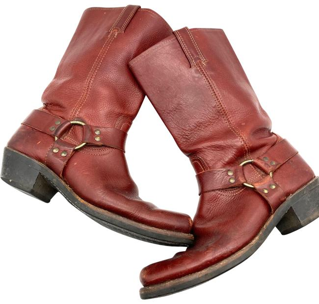 Item - Burgundy Chestnut Leather Belted Harness Boots/Booties Size US 11 Regular (M, B)