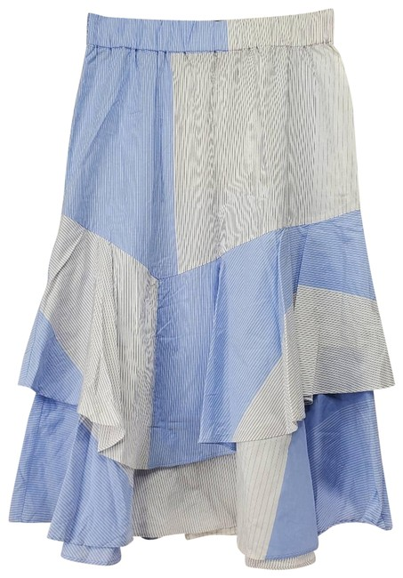 Item - Blue Pinstripe Color Block Tiered A-line Skirt Size 4 (S, 27)