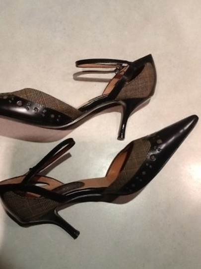 Nine West Dark Brown and Plaid Spectator Pumps