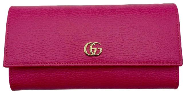 Item - Hot Pink Marmont Women's Leather Gold Gg Continental 456116 575 Wallet