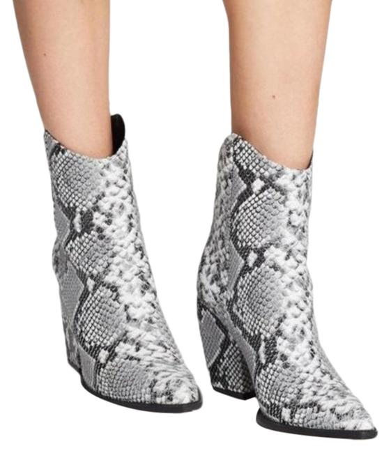 Item - Gray West Pointed Toe Ankle Snake Boots/Booties Size EU 37 (Approx. US 7) Regular (M, B)