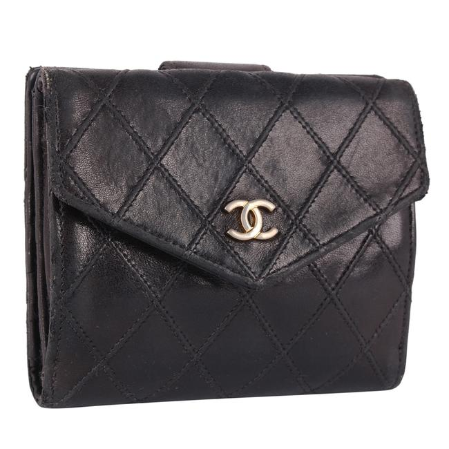 Item - Black Cc Quilted Leather 9673d Wallet
