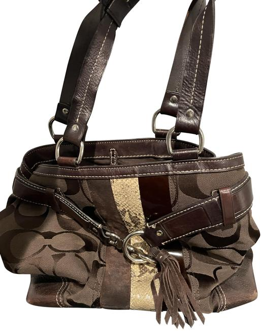 Item - Brown Gold Classic Leather Tote
