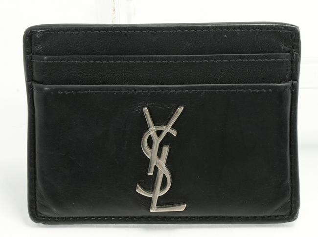 Item - Black Leather Credit Card Holder Men's Jewelry/Accessory