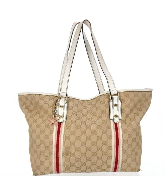 Item - Small Jolicouer Brown White Red and Pink Canvas Shoulder Bag