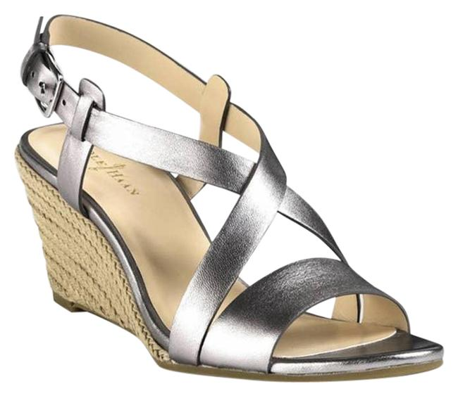 Item - Silver Taylor Sandals 9.5aa Wedges Size US 9.5 Narrow (Aa, N)