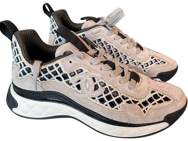Item - Beige Trainers Embroidery Flats Sneakers Size EU 38 (Approx. US 8) Regular (M, B)