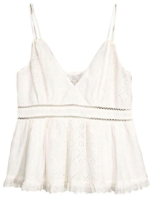 Item - Porcelaine Chani Embroidered Cotton Silk Eyelet Camisole Tank Top/Cami Size 00 (XXS)