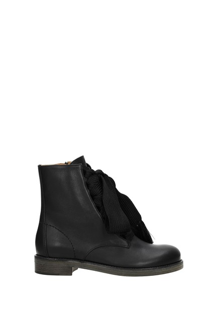 Item - Black Ankle Women Leather Boots/Booties Size EU 36 (Approx. US 6) Regular (M, B)