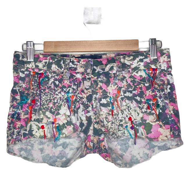Item - Multicolor Printed with Embroidered Embelishments Shorts Size 0 (XS, 25)