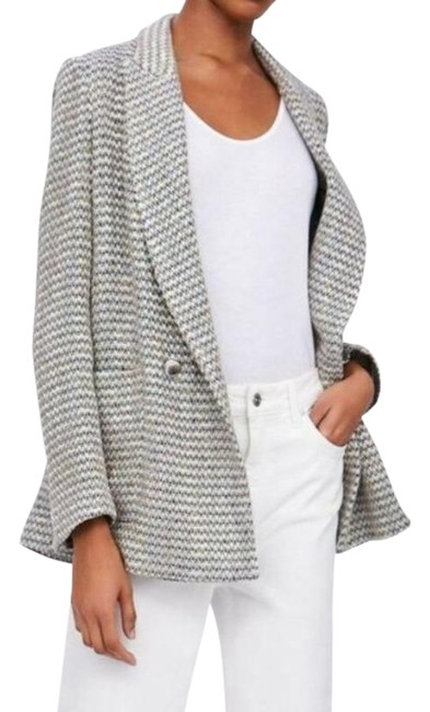 Item - Gray Textured Double Breasted Small Blazer Size 6 (S)