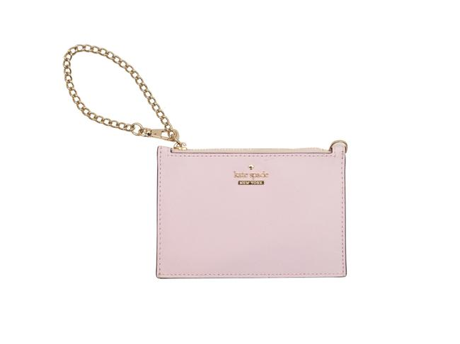Item - Pouch Light Pink Leather Wristlet